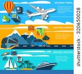tropical island vacation... | Shutterstock . vector #320650028