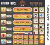 mining treasure hunt game menu... | Shutterstock . vector #320650043