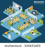 open space office with... | Shutterstock . vector #320651603