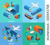 logistics isometric set with... | Shutterstock . vector #320651708
