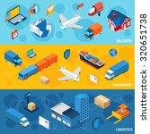 logistics banner horizontal set ... | Shutterstock . vector #320651738