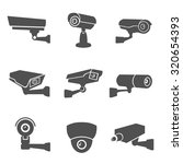 digital surveillance camera... | Shutterstock . vector #320654393