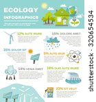 eco energy infographics with... | Shutterstock . vector #320654534
