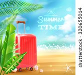 summer beach background with... | Shutterstock . vector #320655014