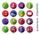 senior lifestyle icons set with ... | Shutterstock . vector #320655950