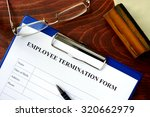 employee termination form on a... | Shutterstock . vector #320662979