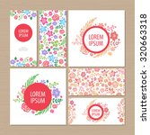 floral card template. | Shutterstock .eps vector #320663318