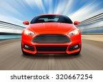sport race car on speed track   ... | Shutterstock . vector #320667254