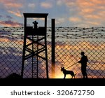concept of security. silhouette ... | Shutterstock . vector #320672750