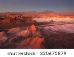 moon valley  atacama desert ...   Shutterstock . vector #320675879