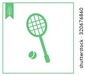 icon of tennis racket and ball   Shutterstock .eps vector #320676860