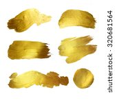 gold watercolor texture paint... | Shutterstock . vector #320681564