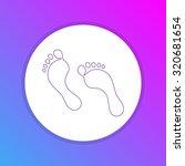 flat design icon   foot print