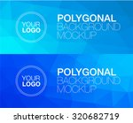 horizontal  polygonal banners   Shutterstock .eps vector #320682719