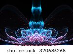 dark fractal flower with pollen ... | Shutterstock . vector #320686268