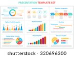 set of infographic presentation ... | Shutterstock .eps vector #320696300