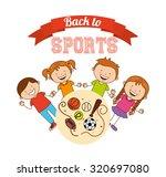 kids sports design  vector... | Shutterstock .eps vector #320697080