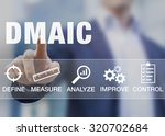 manager presenting dmaic... | Shutterstock . vector #320702684