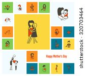 happy mothers day simple flat... | Shutterstock .eps vector #320703464