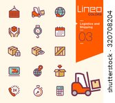 lineo colors   logistics and... | Shutterstock .eps vector #320708204