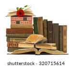 shelf with old antique book... | Shutterstock . vector #320715614
