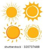 sun in various shape | Shutterstock .eps vector #320737688