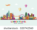 london detailed skyline. vector ... | Shutterstock .eps vector #320742560