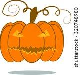 pumpkin background halloween | Shutterstock .eps vector #320748980