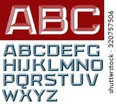3d vector font with the shadows.... | Shutterstock .eps vector #320757506