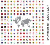 world flags all vector color... | Shutterstock .eps vector #320761274