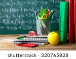 school supplies on the... | Shutterstock . vector #320765828