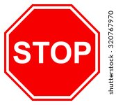 stop sign icon  isolated on... | Shutterstock .eps vector #320767970