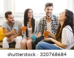 friends having a great day at... | Shutterstock . vector #320768684