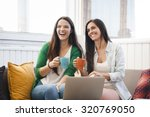 female friends studying at the... | Shutterstock . vector #320769050