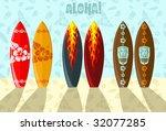 vector illustration of aloha... | Shutterstock .eps vector #32077285