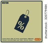 vector icon sale tags.    Shutterstock .eps vector #320779484