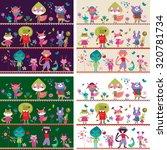 children background with cute... | Shutterstock .eps vector #320781734