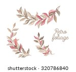 branches foliage. set of floral ... | Shutterstock . vector #320786840
