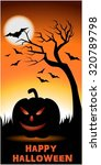 happy halloween   ornge color... | Shutterstock .eps vector #320789798