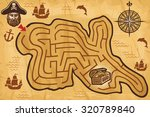 pirate maze for kids with... | Shutterstock .eps vector #320789840