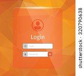 login interface. orange...