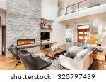 beautiful living room interior... | Shutterstock . vector #320797439