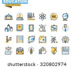 flat line icons set of... | Shutterstock .eps vector #320802974