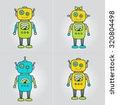 cute robot cartoon character... | Shutterstock .eps vector #320804498