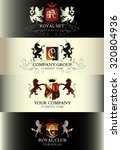 collection of luxury vintage... | Shutterstock .eps vector #320804936