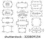 swirl frames | Shutterstock .eps vector #320809154