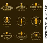 oktoberfest vintage logo... | Shutterstock .eps vector #320815184