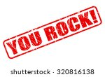 you rock red stamp text on white | Shutterstock .eps vector #320816138
