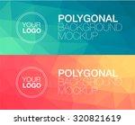 horizontal  polygonal banners | Shutterstock .eps vector #320821619