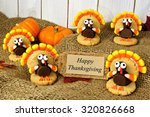 Group Of Turkey Shaped Cookies...
